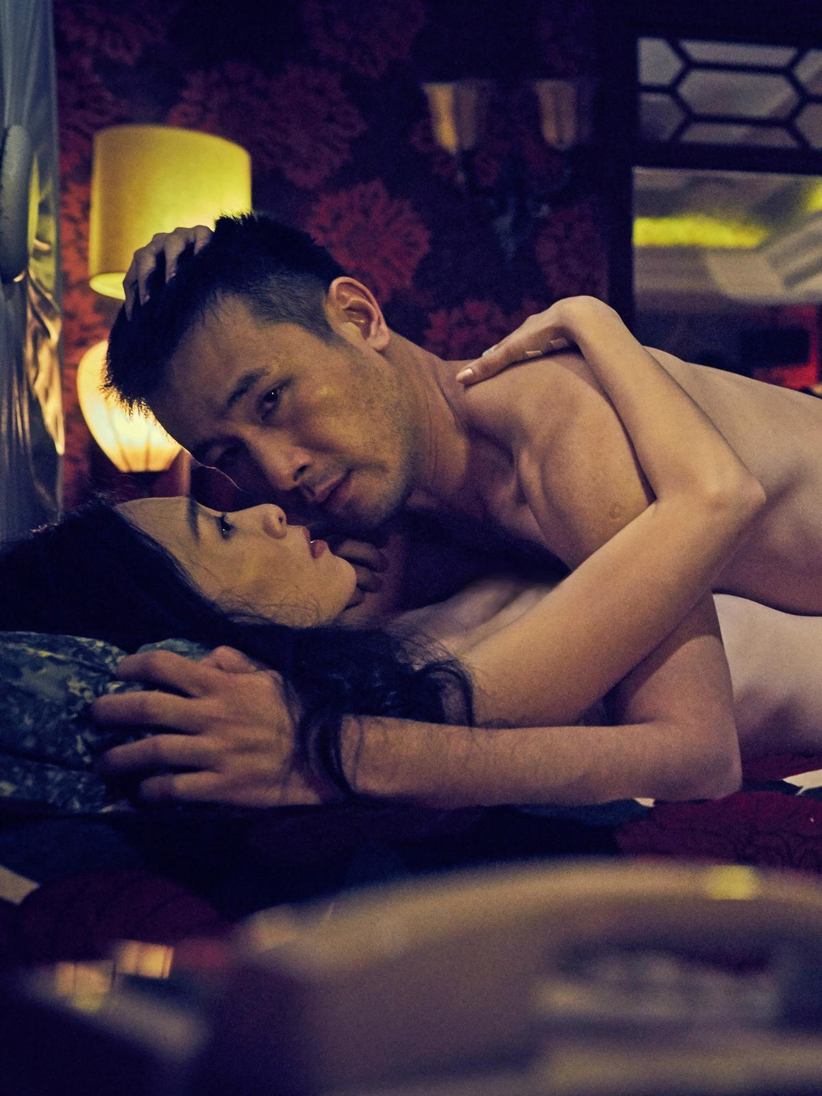 平常話不多的「本土一哥」傅子純和吳可熙拍床戲時,被楊雅喆發現「很會叫」,原來也是個悶騷男。(双喜提供)