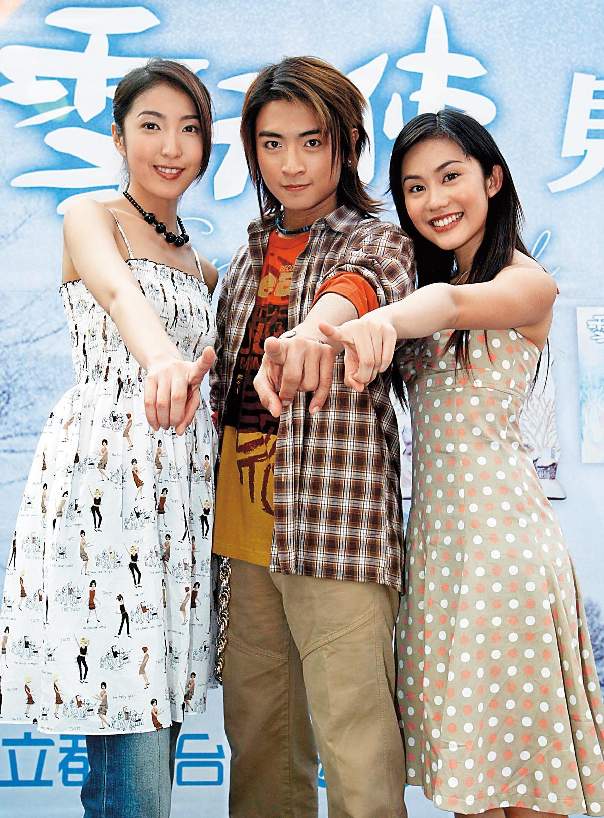 《雪天使》是13年前受歡迎的偶像劇,當時Toro(中)和王宇婕(右)被網友讚是最佳螢幕情侶。左為楊謹華。(東方IC)