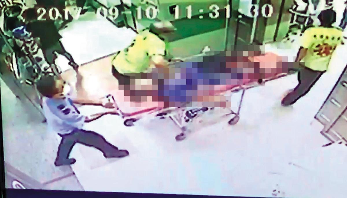 洪紹鈞參加自行車比賽摔車,在現場還有呼吸心跳,送到醫院時卻已無生命跡象。(家屬提供)