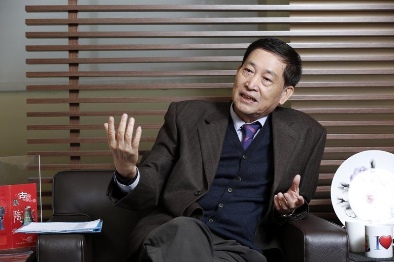 上市公司憶聲電子轉投資的倍適得驚傳欠款3個月,圖為憶聲董事長彭君平。
