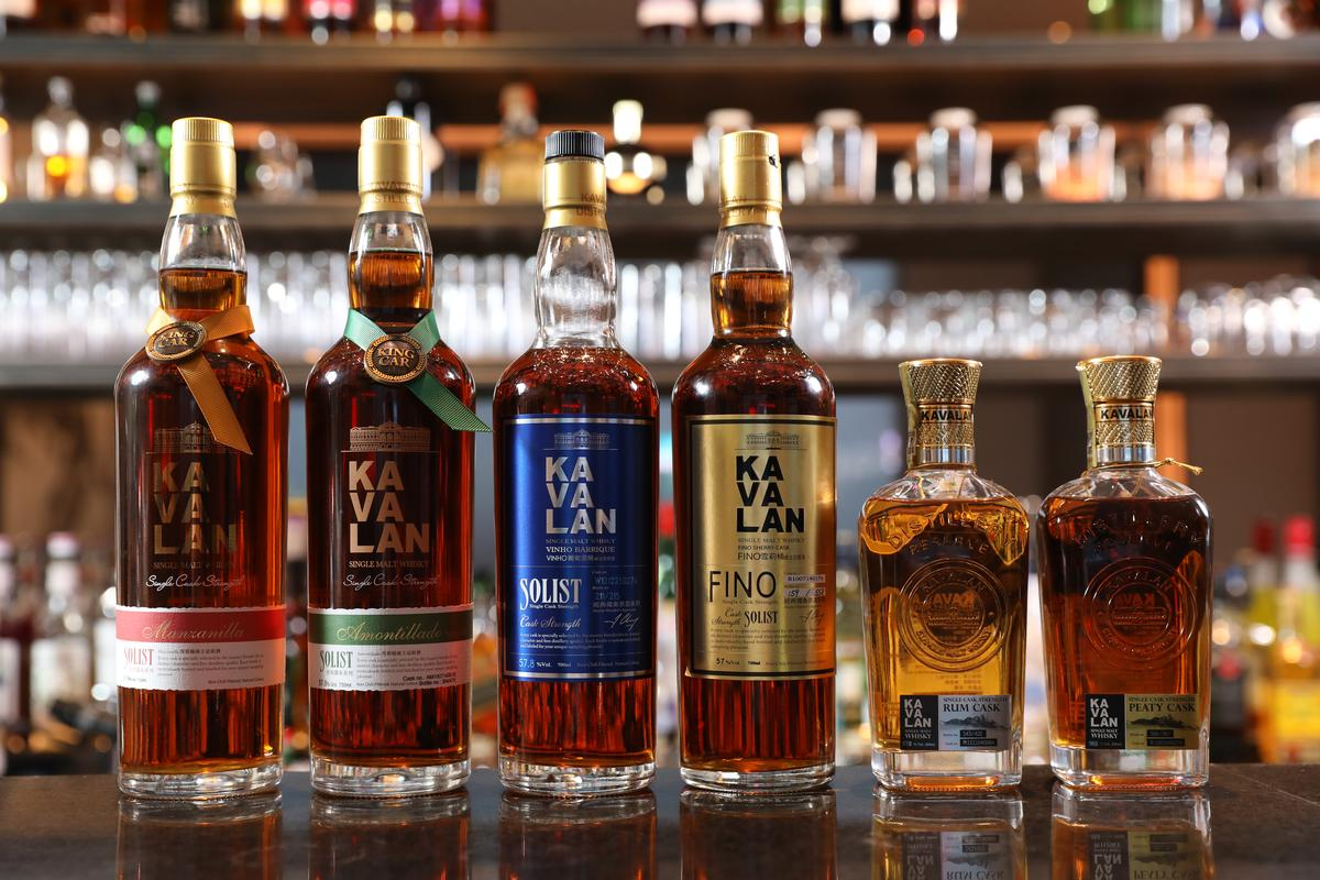 Mu Bar有完整噶瑪蘭系列威士忌,可單杯品飲量少珍稀的「經典獨奏」系列及「酒廠珍藏款」。(480~1,100元/杯)
