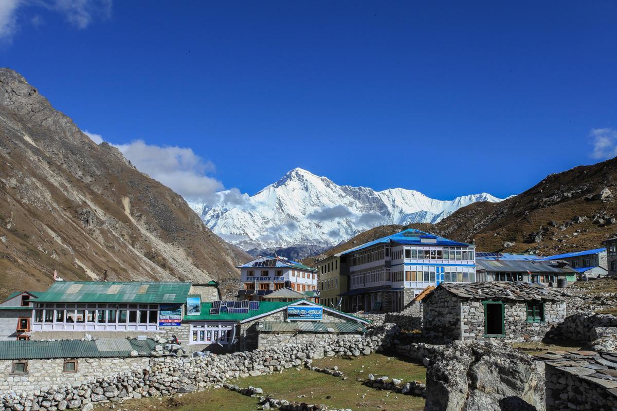 Gokyo可直視卓奧友峰(Cho oyu),為世界第六高峰。