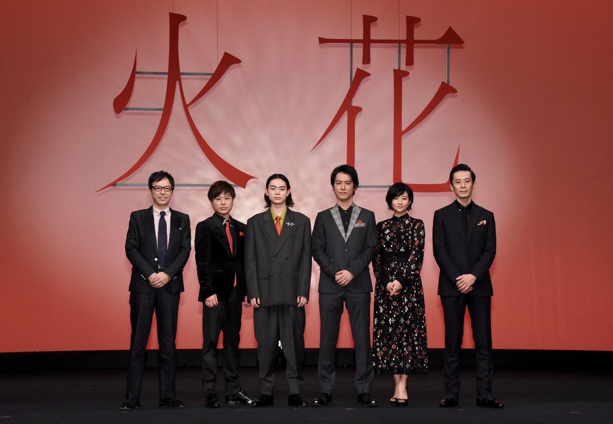電影《火花》改編自獲得日本文壇最高榮譽「芥川賞」的同名作品,原作者為著名搞笑藝人又吉直樹,故事描述諧星的生活與辛酸。(安可提供)