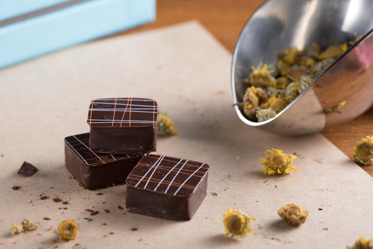菊欉巧克力有豐盈菊香,香氣令人印象深刻。