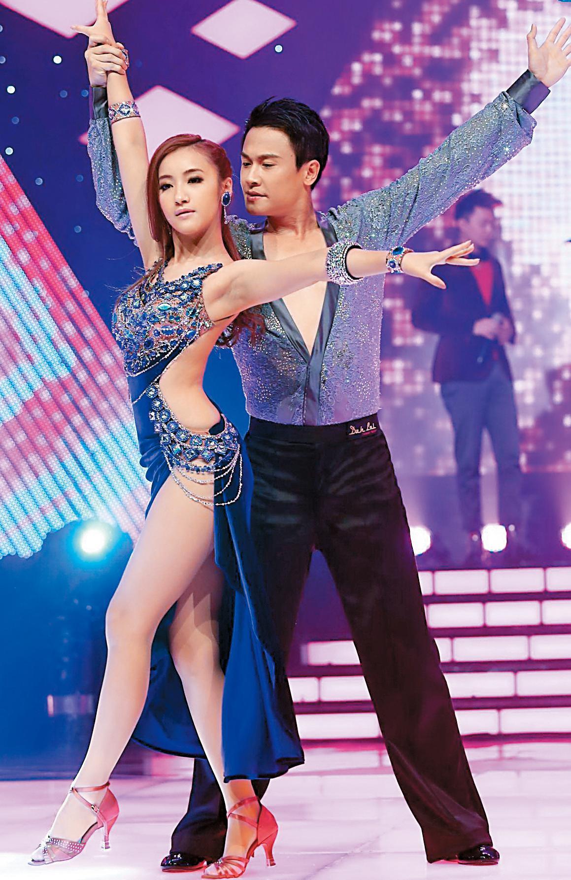 夏宇禾(左)2014年曾參加GINO主持的《舞力全開》獲得冠軍。右為王建復。(民視提供)