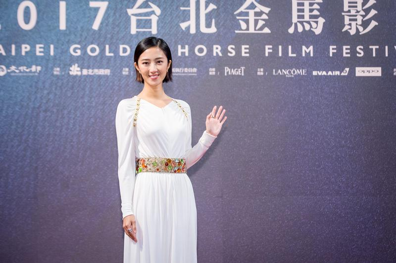 《幸福路上》配音女星桂綸鎂出席金馬影展閉幕式。(傳影互動提供)