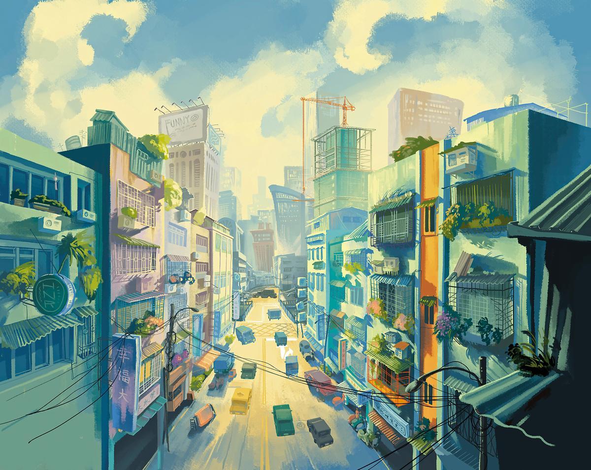 動畫電影《幸福路上》以2D手繪形式,表現懷舊氣氛與溫暖質感。(傳影互動提供)