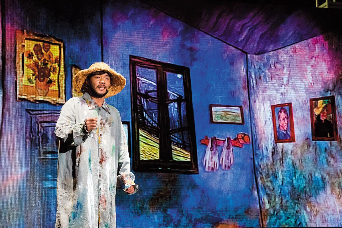 音樂劇《梵高》在背景設計、演員服裝上頗為用心。