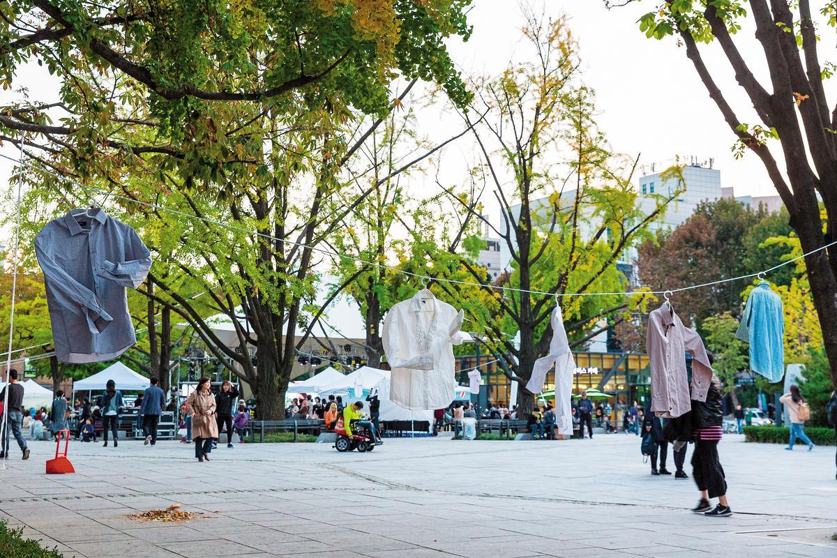 大學路「馬羅尼埃公園」周邊藝術無所不在。