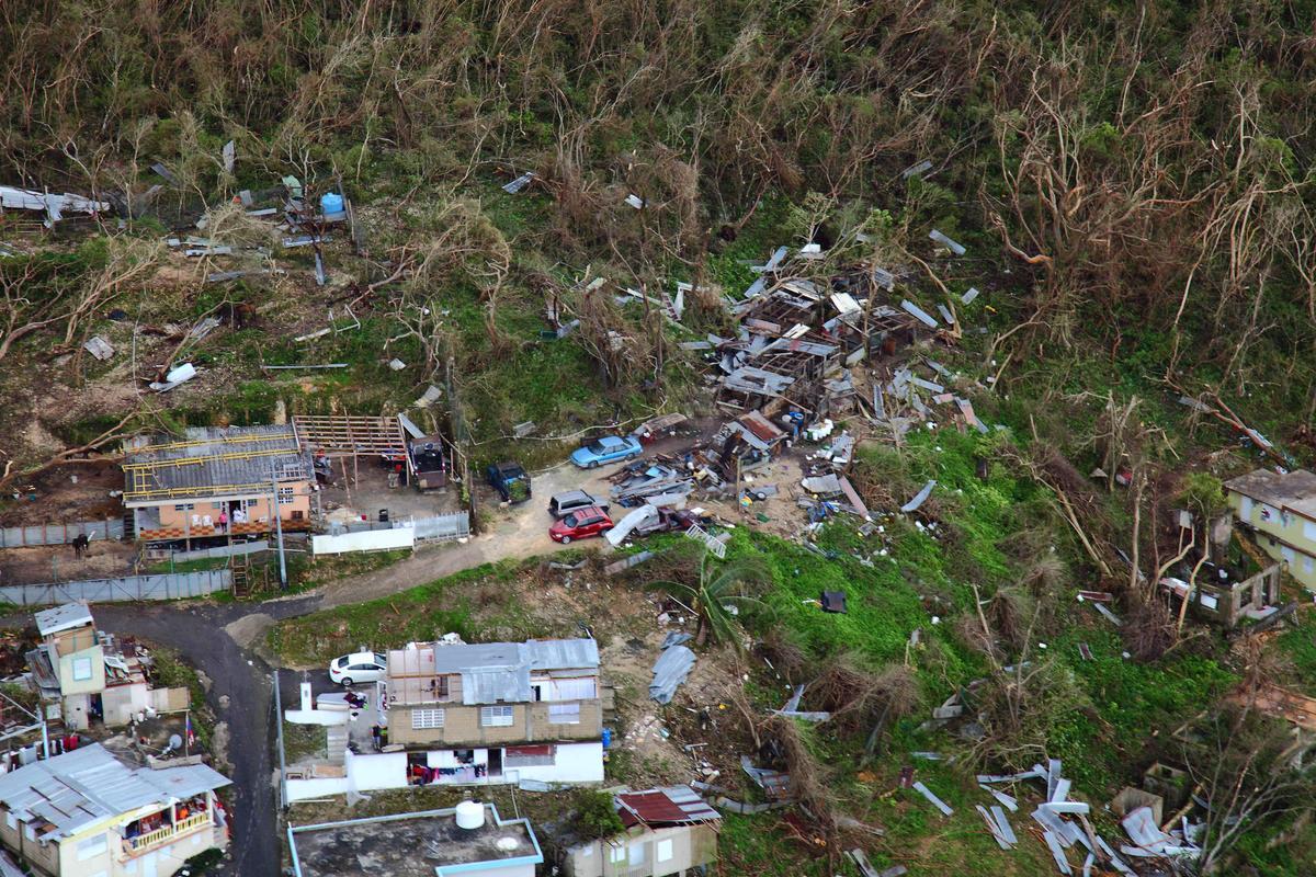 今年9月底瑪莉亞颶風重創波多黎各。(東方IC)
