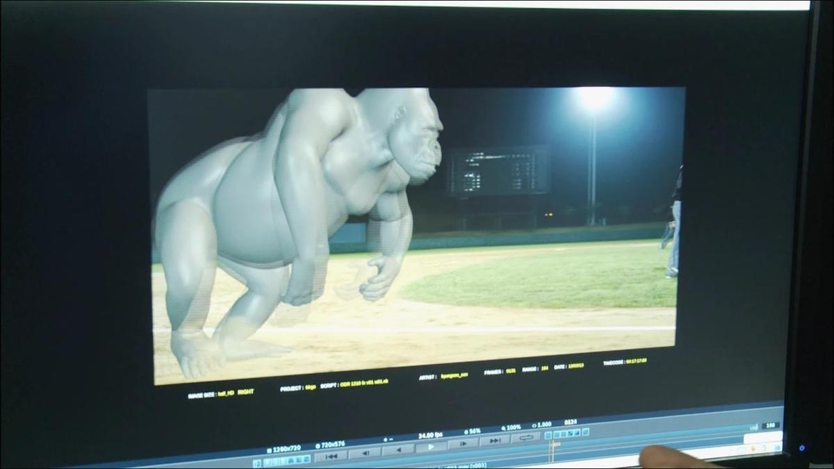 拍攝《王牌巨猩》時,金容華研發「Zelos Fur」軟體,創造猩猩的380萬根毛髮。(Dexter Studios提供)