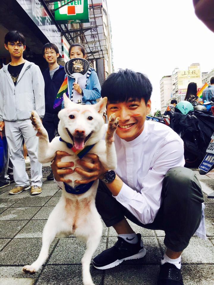 因為愛護動物,陳彥名從大學時就開始吃素。(翻攝自陳彥名臉書)