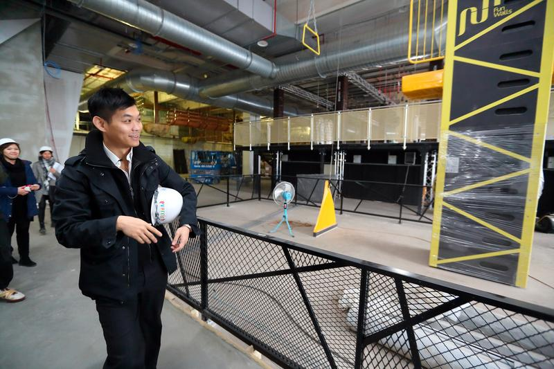 澎澄飯店要靠著極限運動設施吸客,打破澎湖只能做半年生意魔咒。