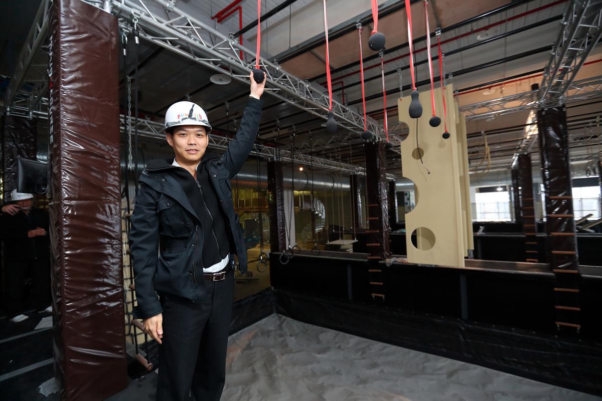 澎澄飯店最具賣點的是室內極限體能挑戰空間「Go Star」。