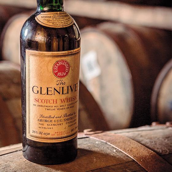 格蘭利威充滿歷史感的酒瓶標。