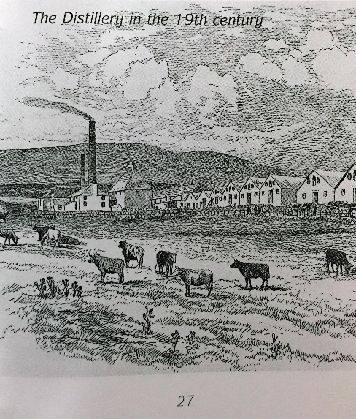 19世紀所繪出的酒廠模樣。