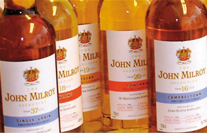 約翰・米爾羅(John Milroy)當年在蘇格蘭是極有名的挑桶者與獨立裝瓶商,即便過世了,他的名字還是成為BBR旗下的IB品牌。