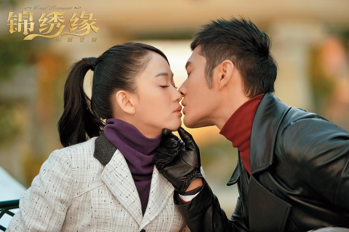 陳喬恩在《錦繡緣》中跟黃曉明對戲,互相拉抬了不少人氣跟地位。(東方IC)