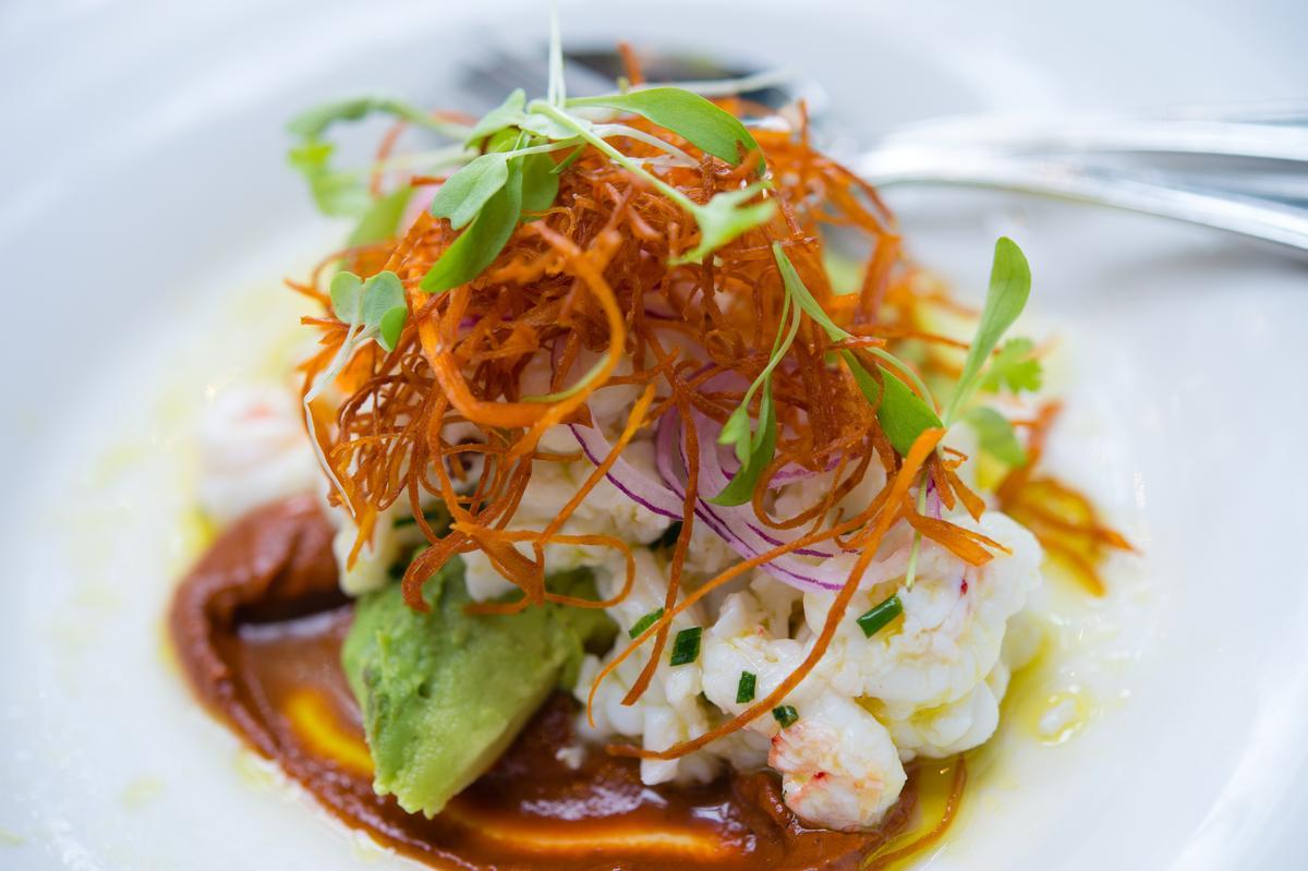 「鮮蝦酪梨沙拉」是開胃的海鮮前菜。(紐幣28元/份,約NT$591)