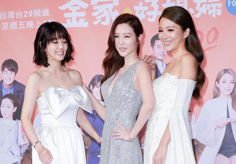 高宇蓁在《金家好媳婦》跟曾莞婷(中)有不少對手戲,左為韓瑜。