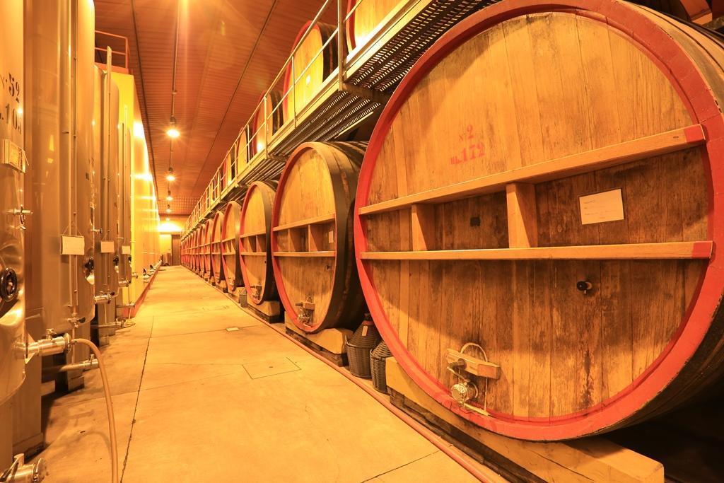 Brunello di Montalchino通常會在大型的斯拉沃尼亞橡木桶中陳放3年。