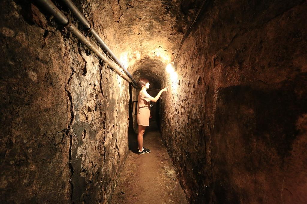 卡斯提里歐尼酒窖中原先通往水井的通道。