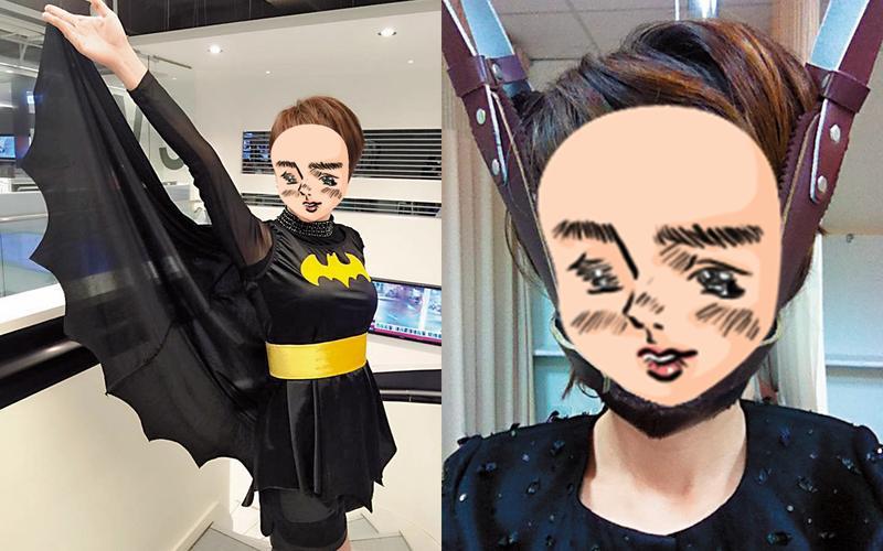 工作拚命的陳雅琳,曾以蝙蝠俠造型出席尾牙活動,外表看似幹練勇健的她,其實身體小毛病不少。(翻攝自陳雅琳臉書)