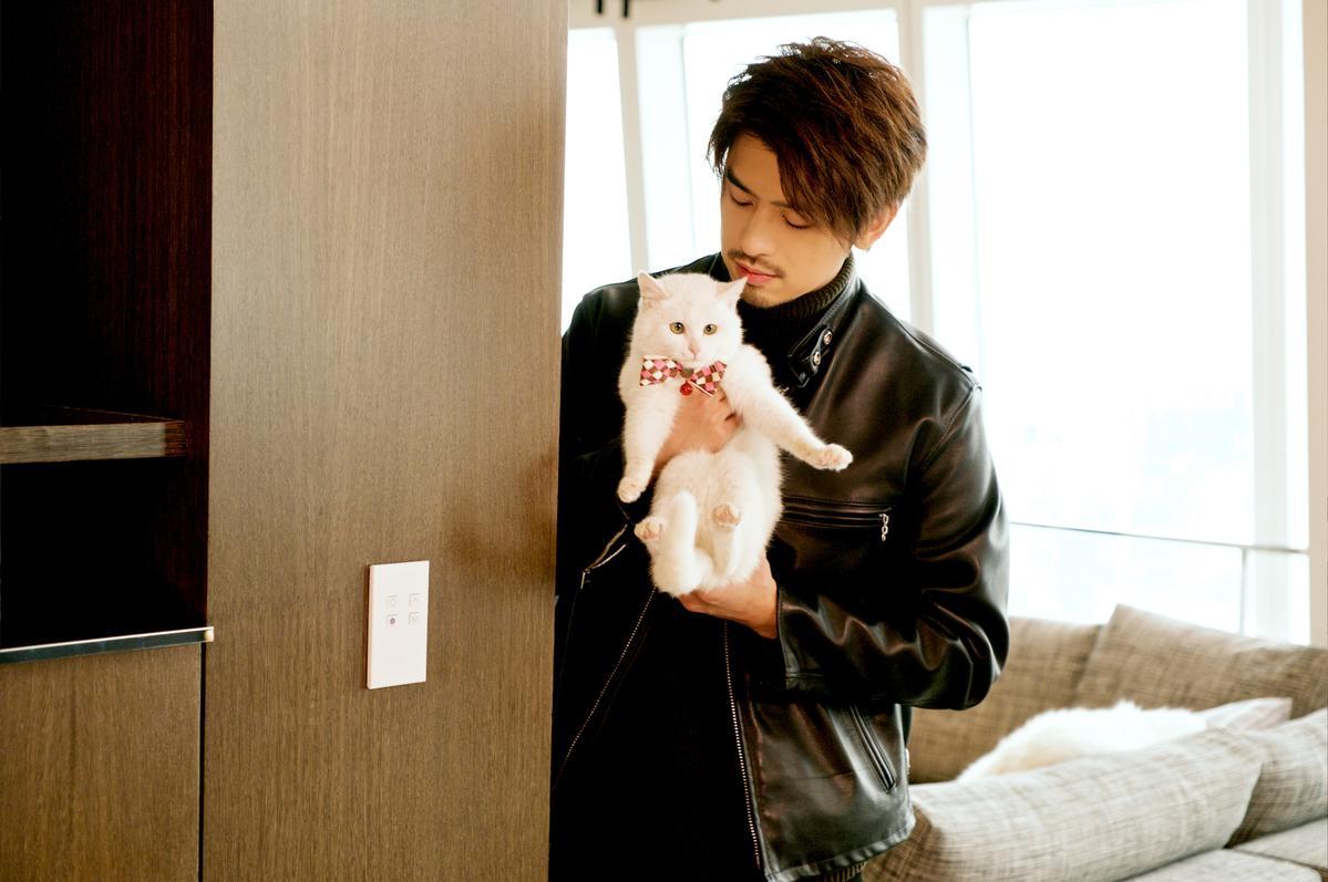 陳柏霖在戲裡不但對女人溫柔體貼,對貓也很照顧。(迪士尼提供)