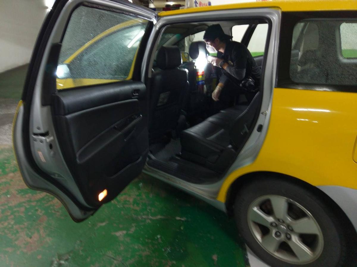 林嫌所乘坐的計程車。(警方提供)