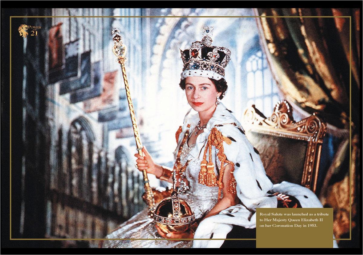皇家禮炮的問世源起於英國女皇伊莉莎白二世登基加冕。(台灣保樂力加提供)