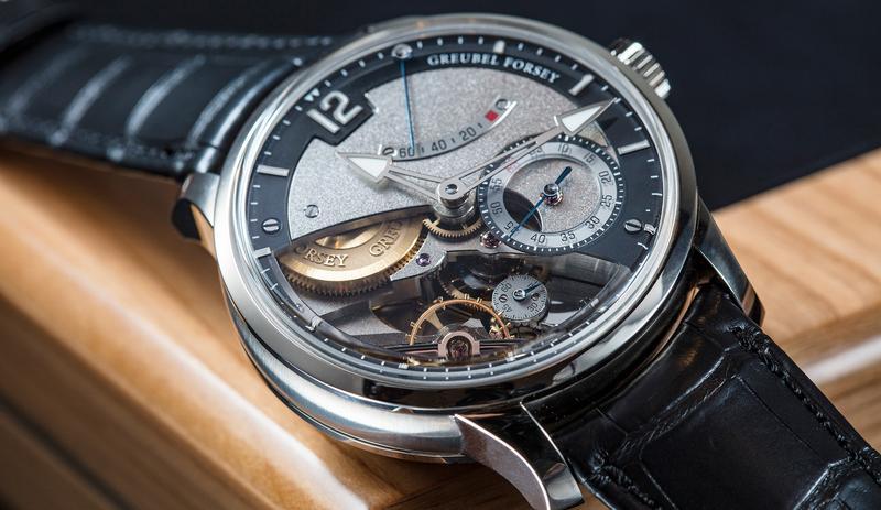 看似簡單小三針的GREUBEL FORSEY Différentiel d'Égalit腕錶,其實是品牌第一款恆定動力裝置、跳秒功能的作品。