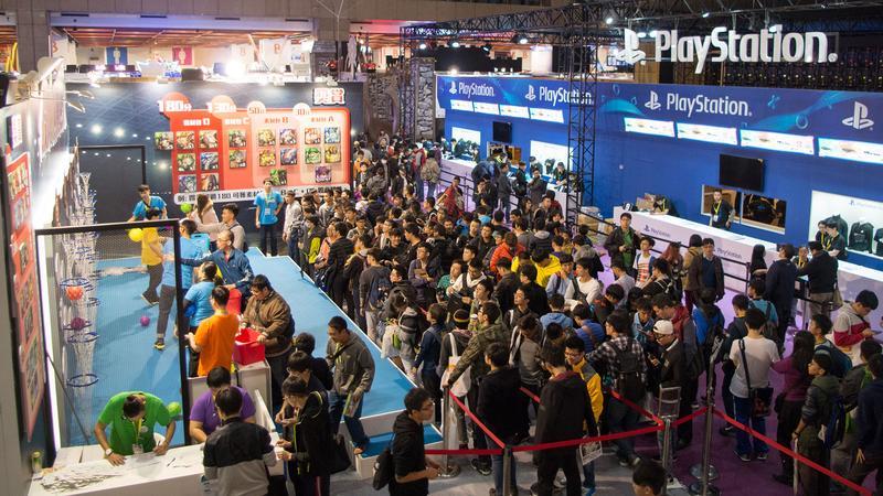 2018台北國際電玩展玩家區1月26日開放,四天展期預計將湧入30萬人潮。(周文凱攝)
