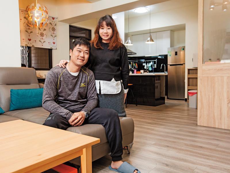 彭先生和太太湯小姐買下屋齡25年的中古屋,經局部裝修後,屋內煥然一新。