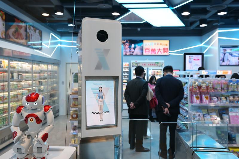 統一超的第一間無人商店今天正式露面。