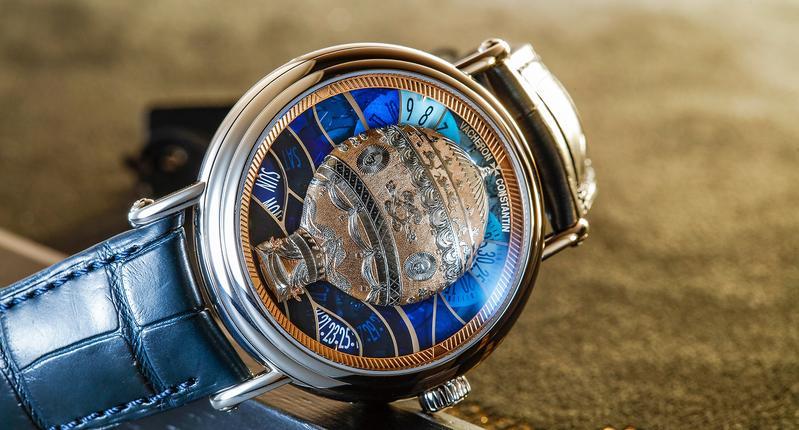 江詩丹頓藝術大師系列Les Aérostiers熱氣球腕錶,首度運用鏤空琺瑯工藝,共有五種款式。