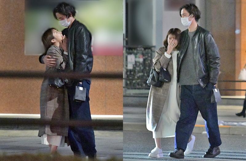 福士蒼汰在路邊跟網紅約會親熱,而且還帶她回家。(翻攝news-postseven網站)