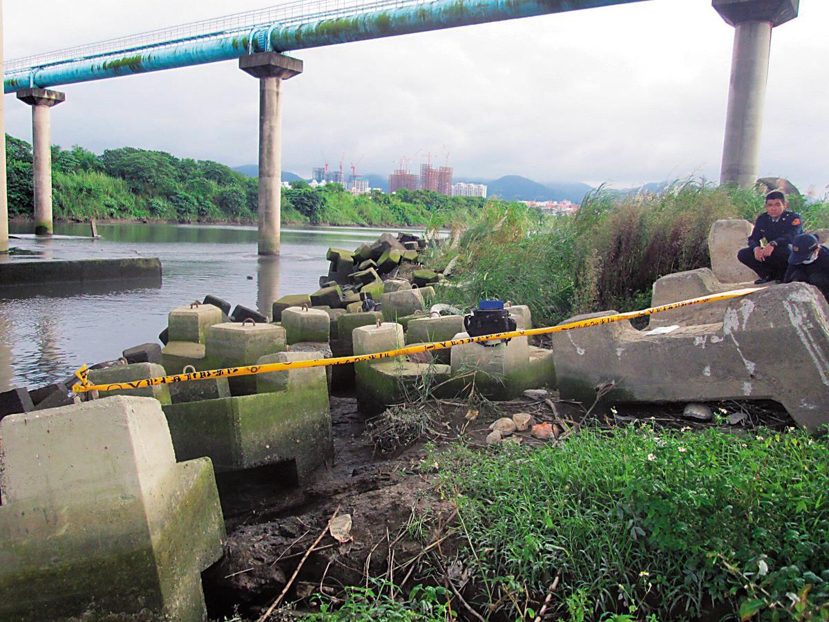 亞藍失蹤2週後,遺體在大漢溪畔被釣客發現。