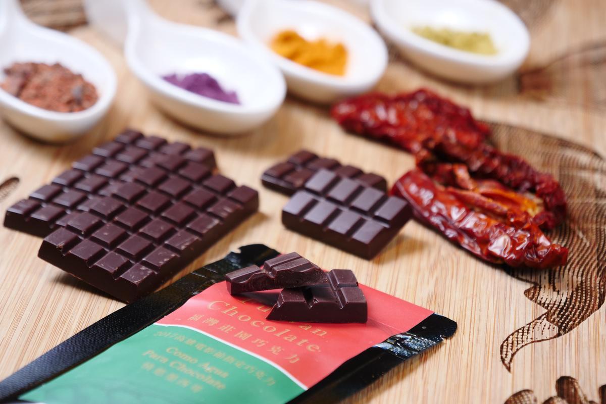 靈感來自電影「巧克力情人」的「情慾墨西哥巧克力」,熱辣濃烈。(120元/片)