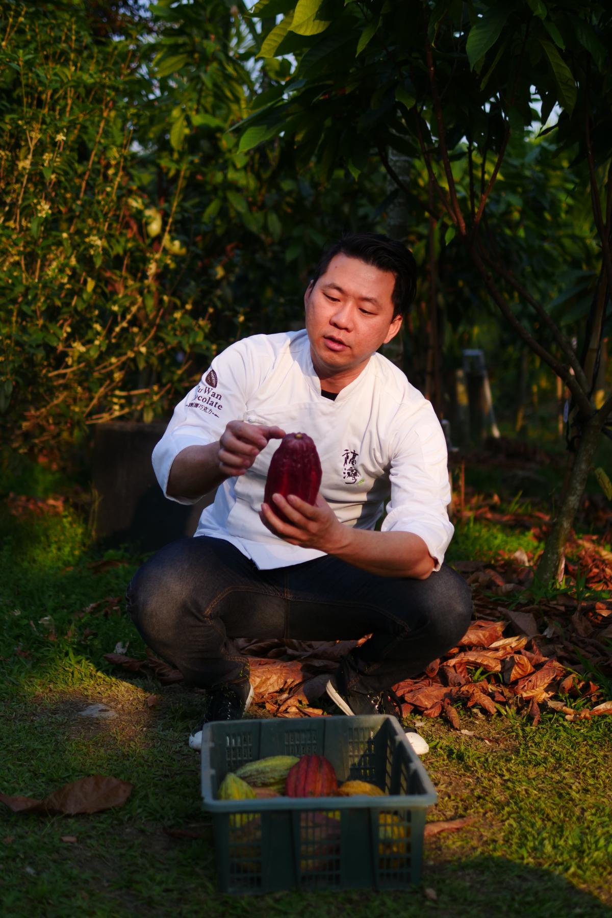 許華仁是全台第一位巧克力品鑑師(IICCT),他使用台灣本土可可豆研發成各式巧克力,讓台灣可可的丰采終能被國際甜點界看見。