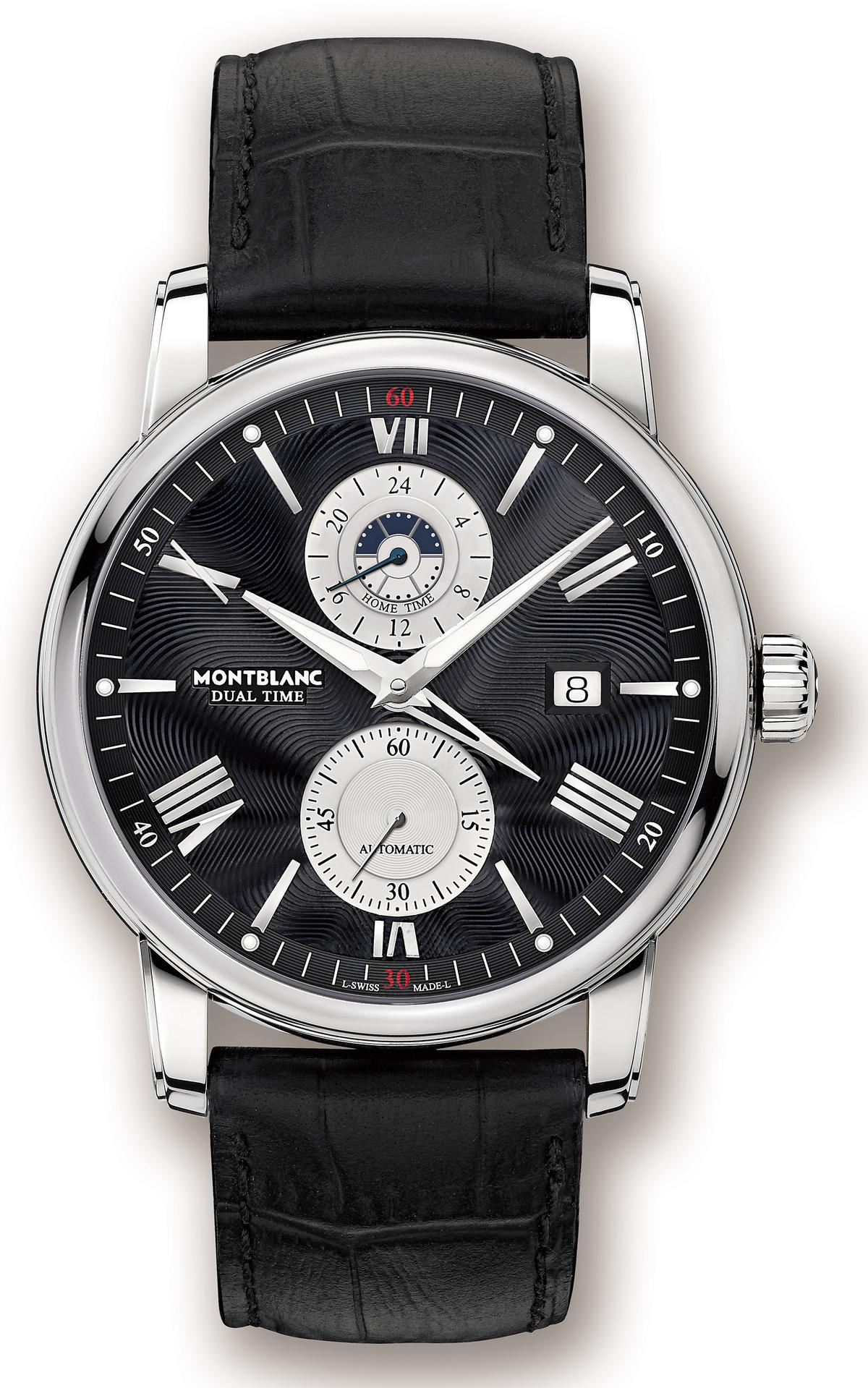 萬寶龍4810系列黑面款雙時區腕錶,NT$148,400。