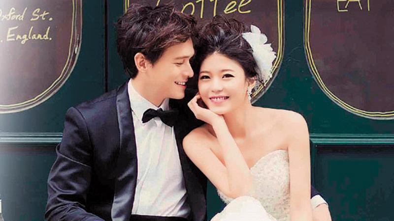倪安東與妻子Vivi在2010年結婚後,一直到2014年才公開,並於隔年補拍婚紗,如今對簿公堂。(翻攝自倪安東臉書)