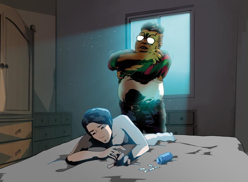 亞藍對友人提及自己曾遭一名中年男子下藥,再用宗教儀式性侵她。