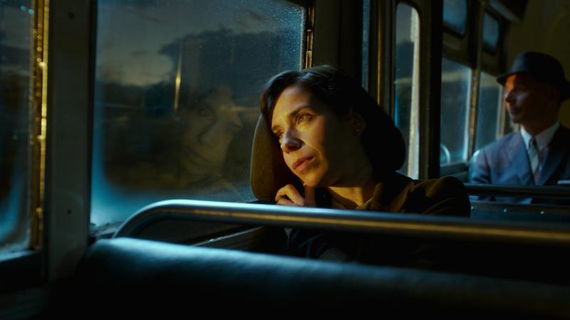 莎莉霍金斯片中沒有對白,但她展現了強大又生動的演技,儘管不是美女,這愛情故事還是令人信服。(福斯提供)