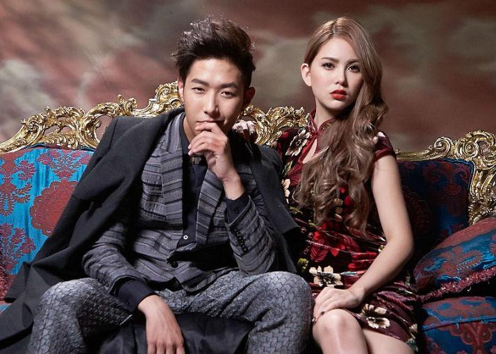 金韓一與昆凌因拍攝《鋼鐵之心》結為好友,昆凌曾友情跨刀他的〈摩登女郎〉MV。(翻攝自網路)