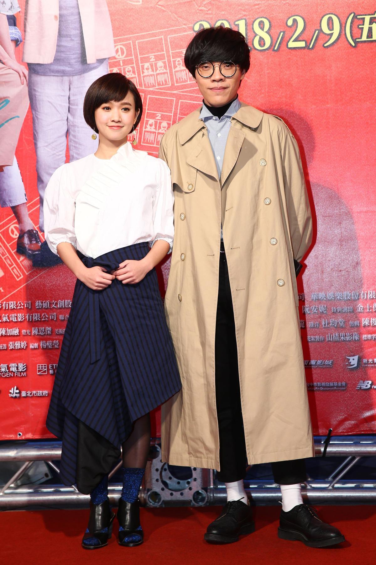 盧廣仲、嚴正嵐一同出席電影首映會。