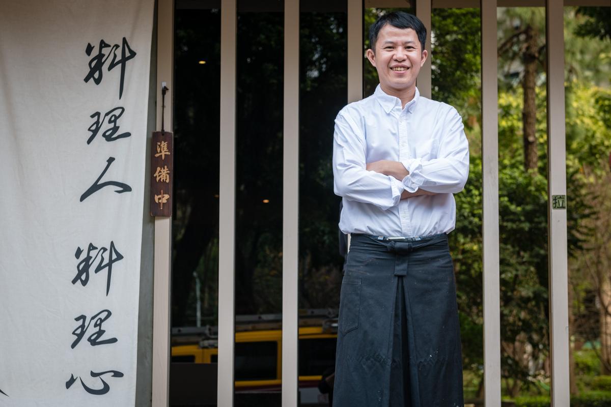 「真真庵壽司割烹」老闆王盟霖曾在「新都里」任職7年,再赴日本2年精進懷石料理技巧。