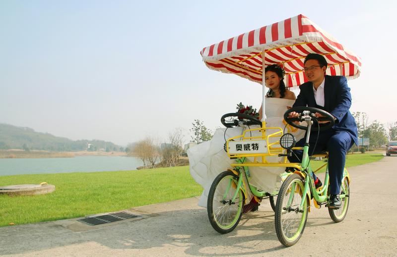 安徽省蕪湖市峨橋鎮力推「特色小鎮」,吸引觀光客。(東方IC)