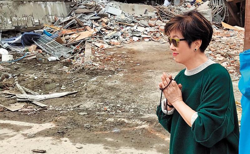 張淑芬上週五親赴花蓮勘災,擔憂花蓮強震災情。