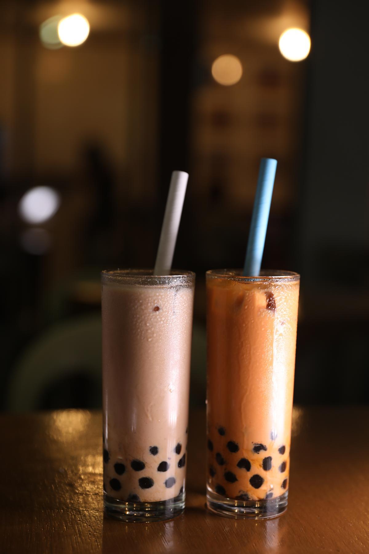 El Nido Tea House有台灣奶茶和泰式奶茶兩種招牌,都可以加上珍珠品嘗。(80披索/杯,約NT$47)
