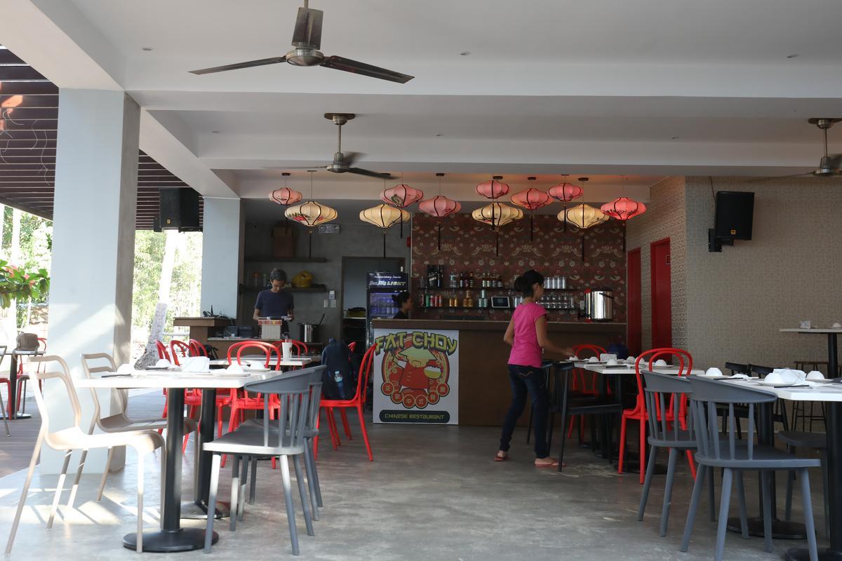 店內的布置不是傳統的中式餐廳,卻很有新意。